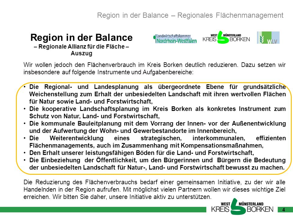 – Regionale Allianz für die Fläche –