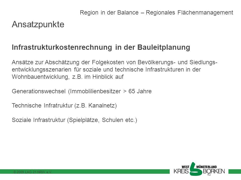 Ansatzpunkte Infrastrukturkostenrechnung in der Bauleitplanung