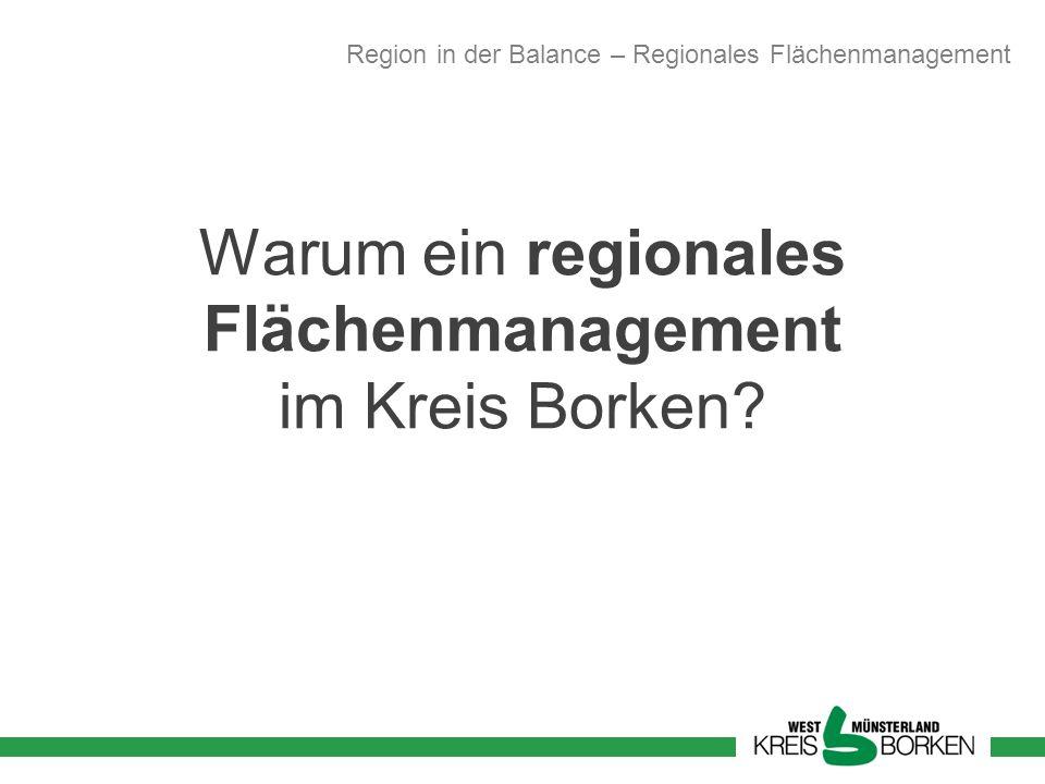 Warum ein regionales Flächenmanagement im Kreis Borken