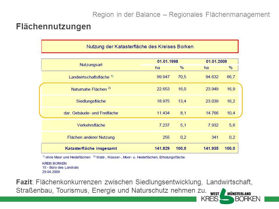 Flächennutzungen Region in der Balance – Regionales Flächenmanagement