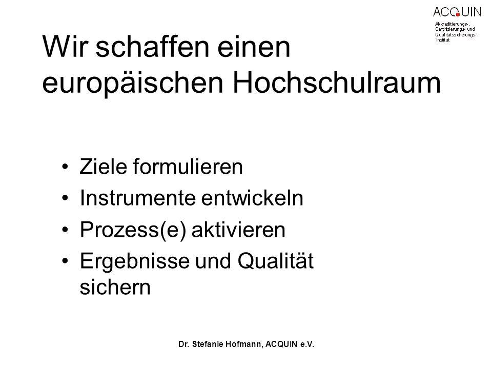 Wir schaffen einen europäischen Hochschulraum