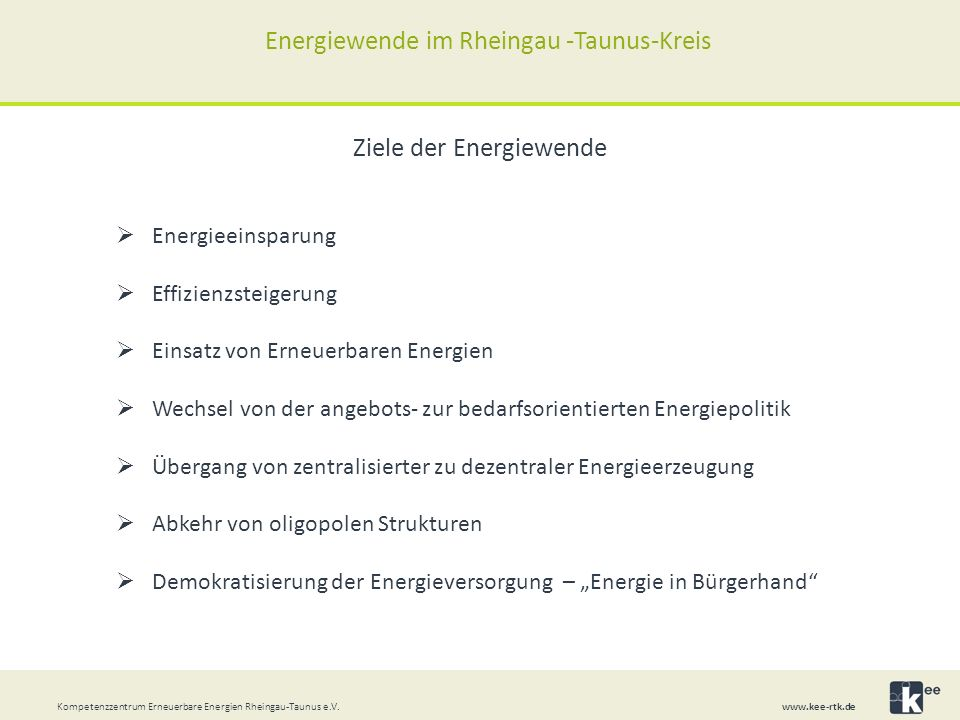 Energiewende im Rheingau -Taunus-Kreis