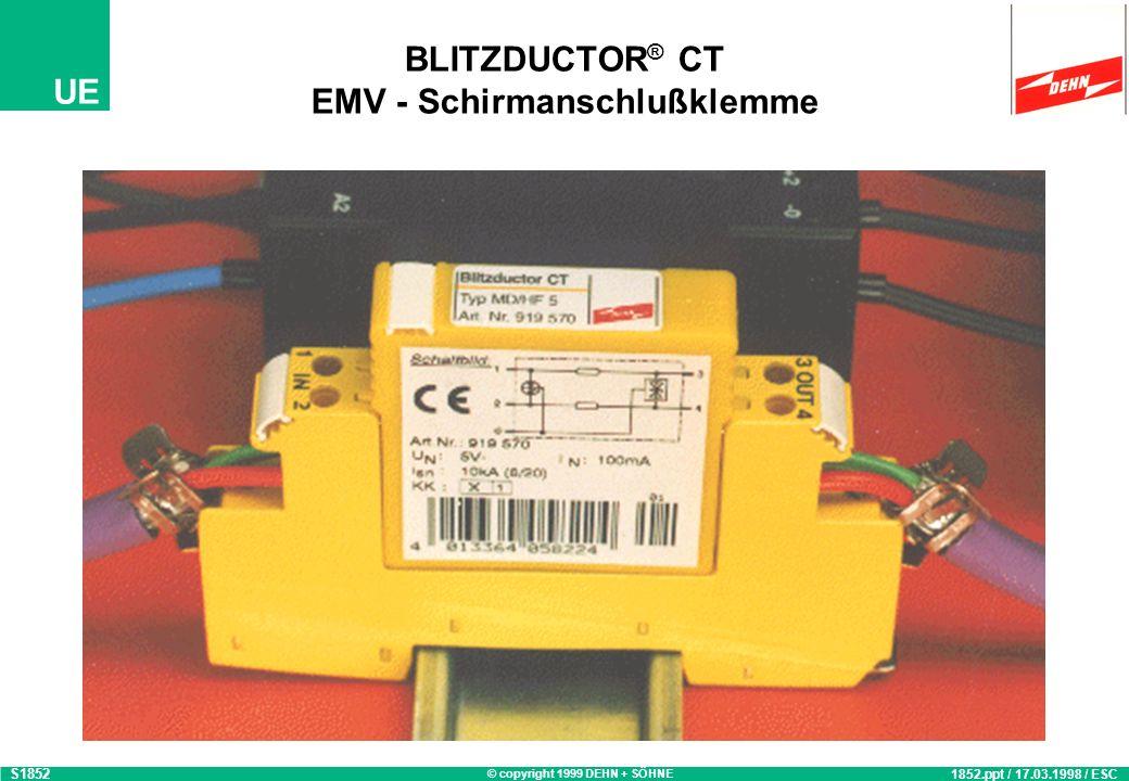BLITZDUCTOR® CT EMV - Schirmanschlußklemme