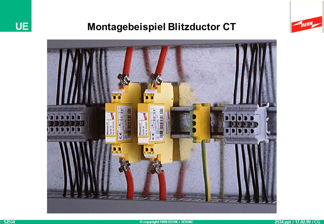 Montagebeispiel Blitzductor CT