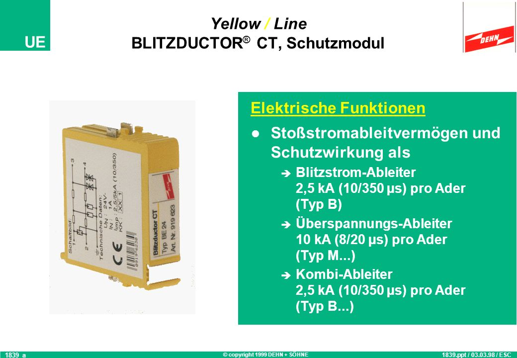 Yellow / Line BLITZDUCTOR® CT, Schutzmodul
