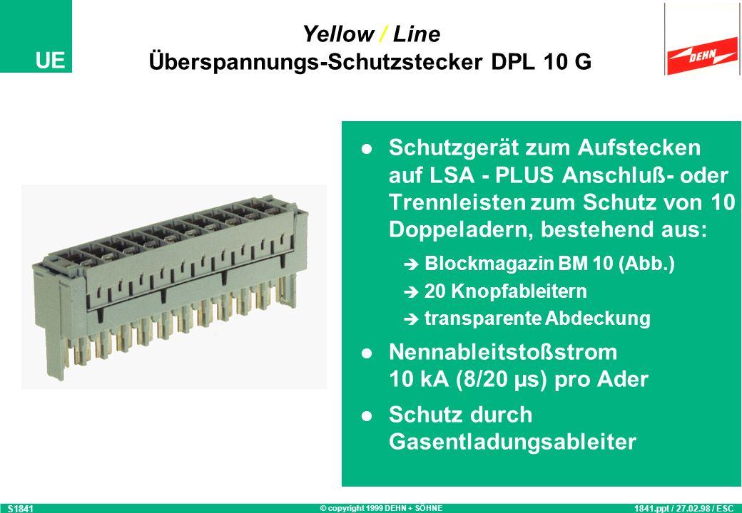 Yellow / Line Überspannungs-Schutzstecker DPL 10 G