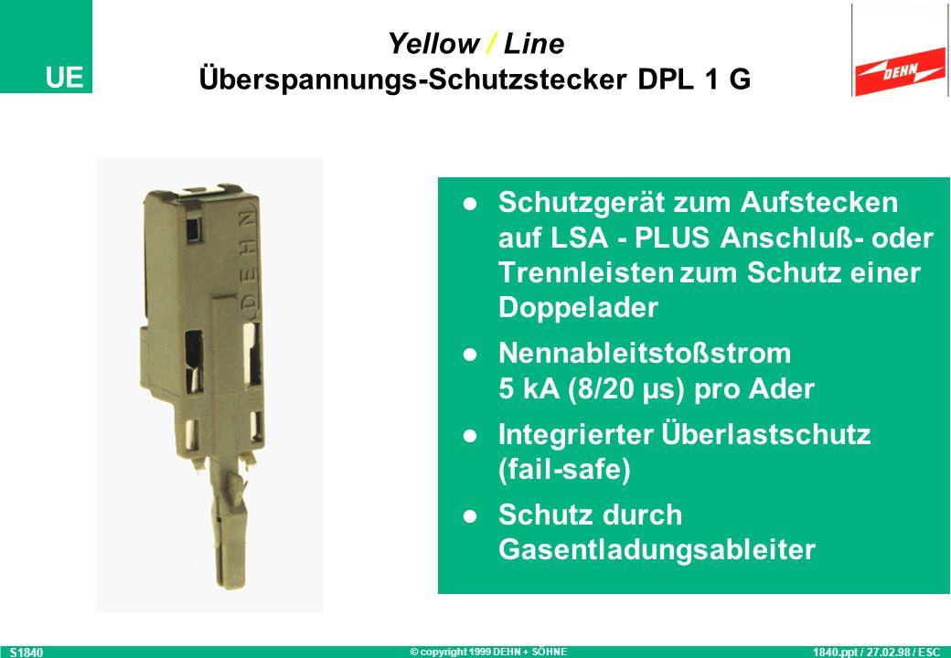 Yellow / Line Überspannungs-Schutzstecker DPL 1 G