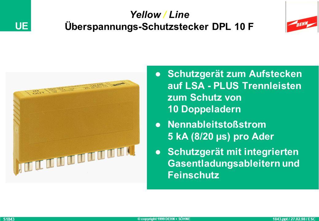 Yellow / Line Überspannungs-Schutzstecker DPL 10 F