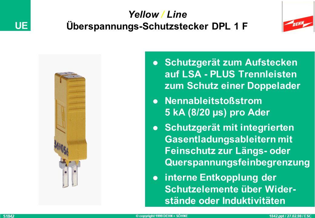 Yellow / Line Überspannungs-Schutzstecker DPL 1 F