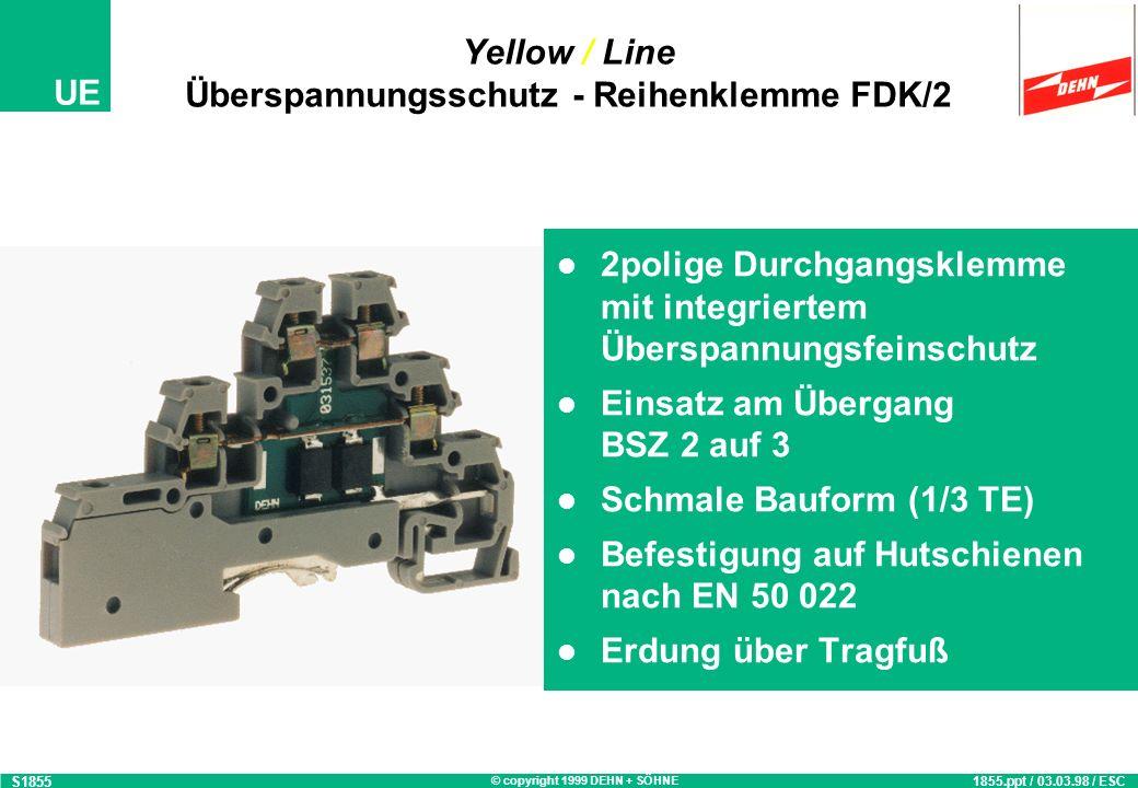 Yellow / Line Überspannungsschutz - Reihenklemme FDK/2
