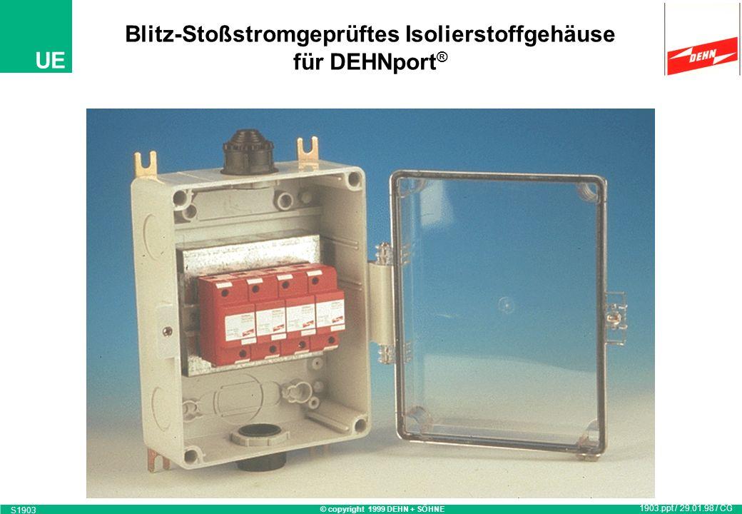 Blitz-Stoßstromgeprüftes Isolierstoffgehäuse für DEHNport®