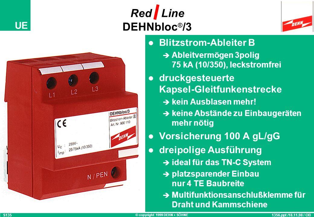 Red Line DEHNbloc®/3 Blitzstrom-Ableiter B