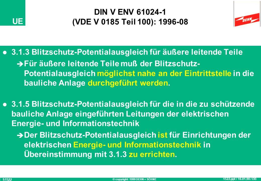 DIN V ENV 61024-1 (VDE V 0185 Teil 100): 1996-08