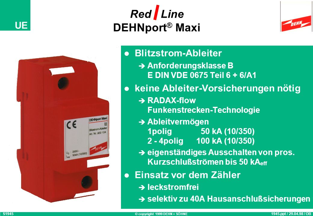 Red Line DEHNport® Maxi