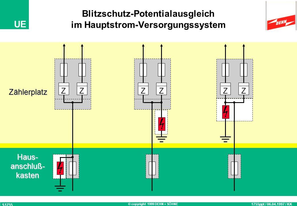 Blitzschutz-Potentialausgleich im Hauptstrom-Versorgungssystem