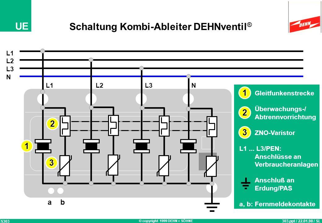Schaltung Kombi-Ableiter DEHNventil®