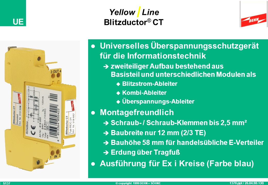 Yellow Line Blitzductor® CT