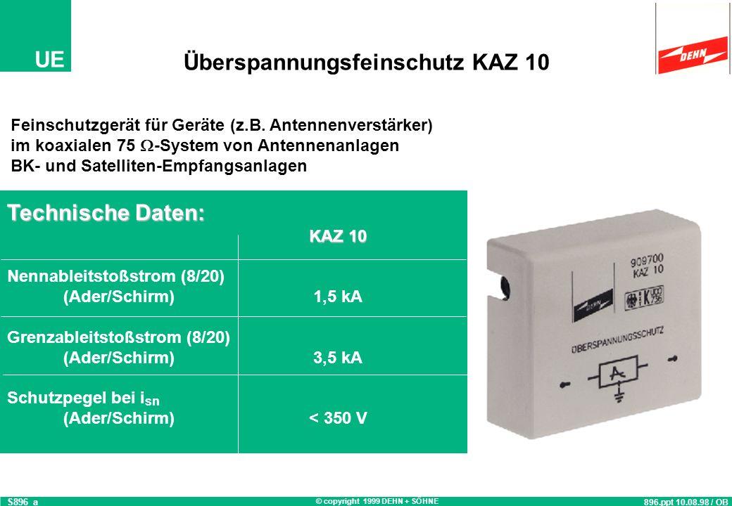 Überspannungsfeinschutz KAZ 10