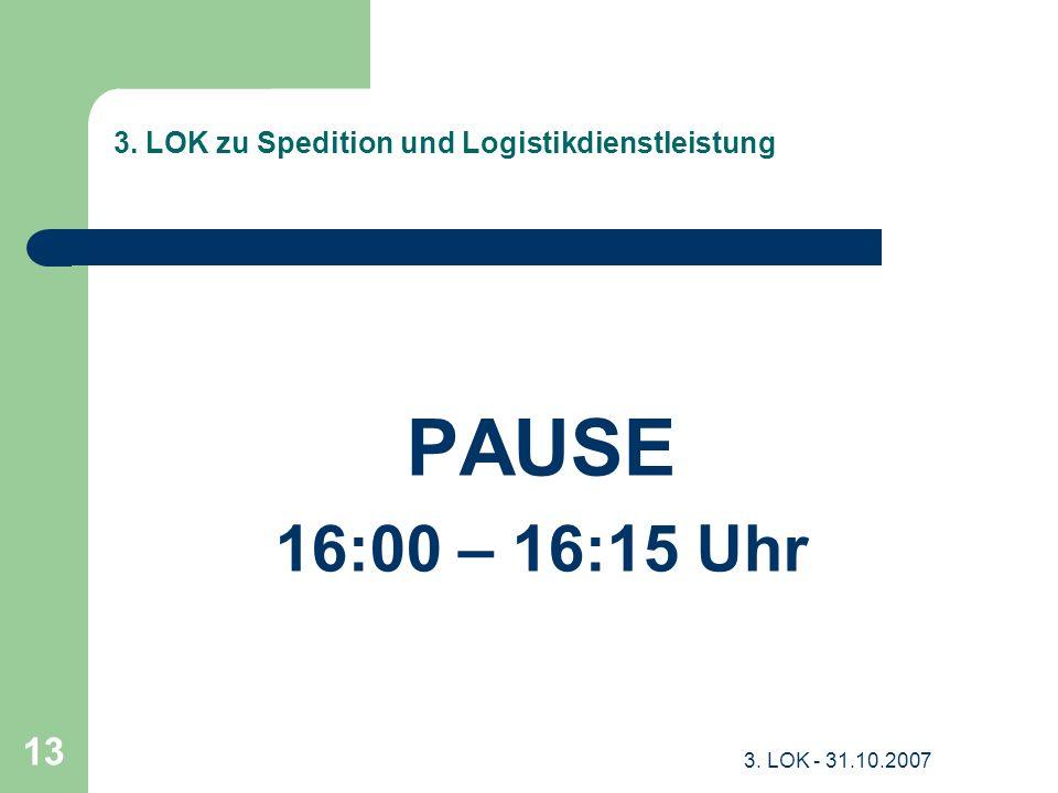 3. LOK zu Spedition und Logistikdienstleistung
