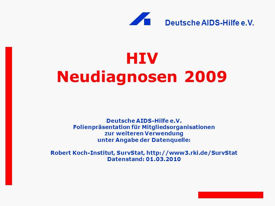 HIV Neudiagnosen 2009 Deutsche AIDS-Hilfe e.V.