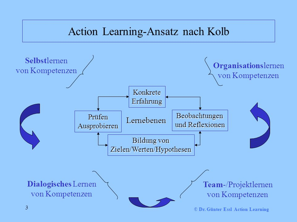 Action Learning-Ansatz nach Kolb