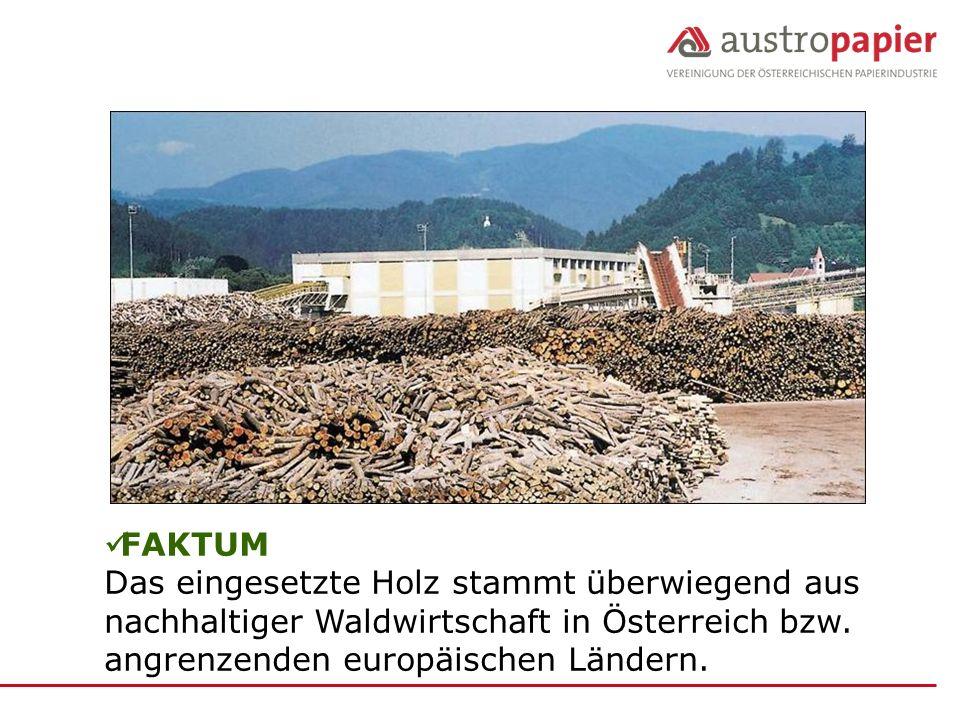 FAKTUM Das eingesetzte Holz stammt überwiegend aus nachhaltiger Waldwirtschaft in Österreich bzw.