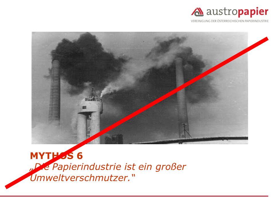 """MYTHOS 6 """"Die Papierindustrie ist ein großer Umweltverschmutzer."""
