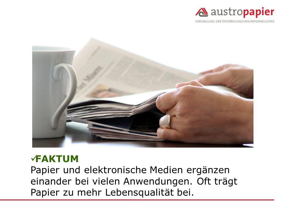 FAKTUM Papier und elektronische Medien ergänzen einander bei vielen Anwendungen.