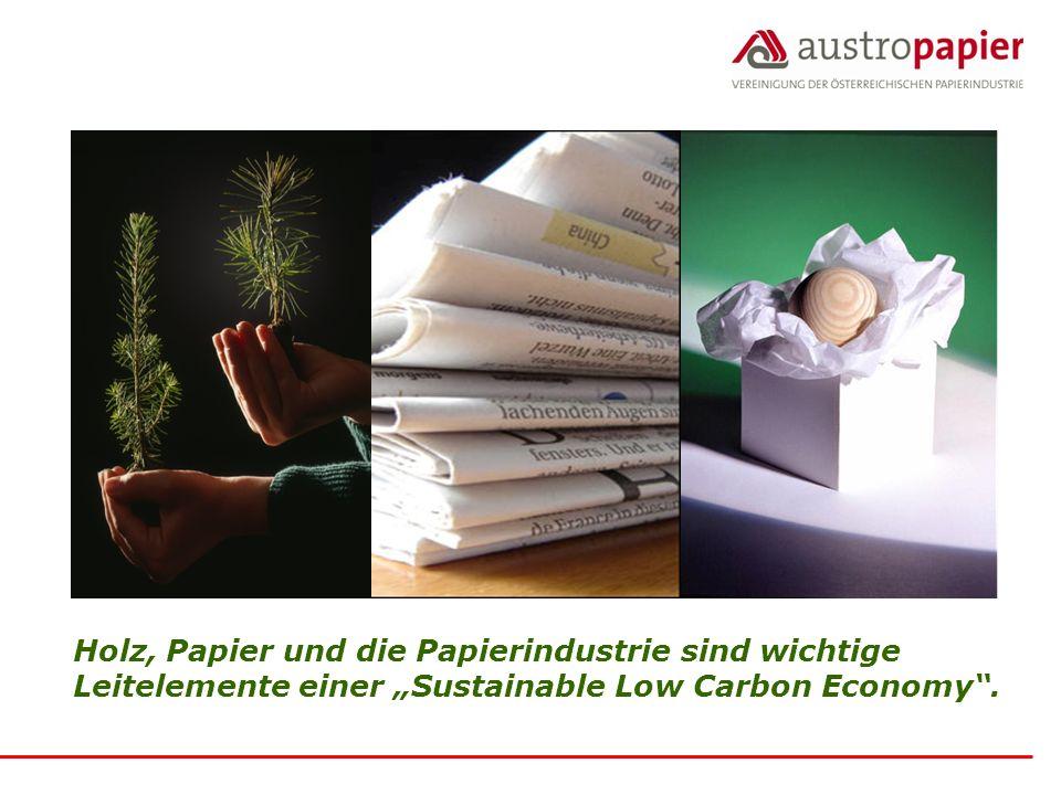"""Holz, Papier und die Papierindustrie sind wichtige Leitelemente einer """"Sustainable Low Carbon Economy ."""