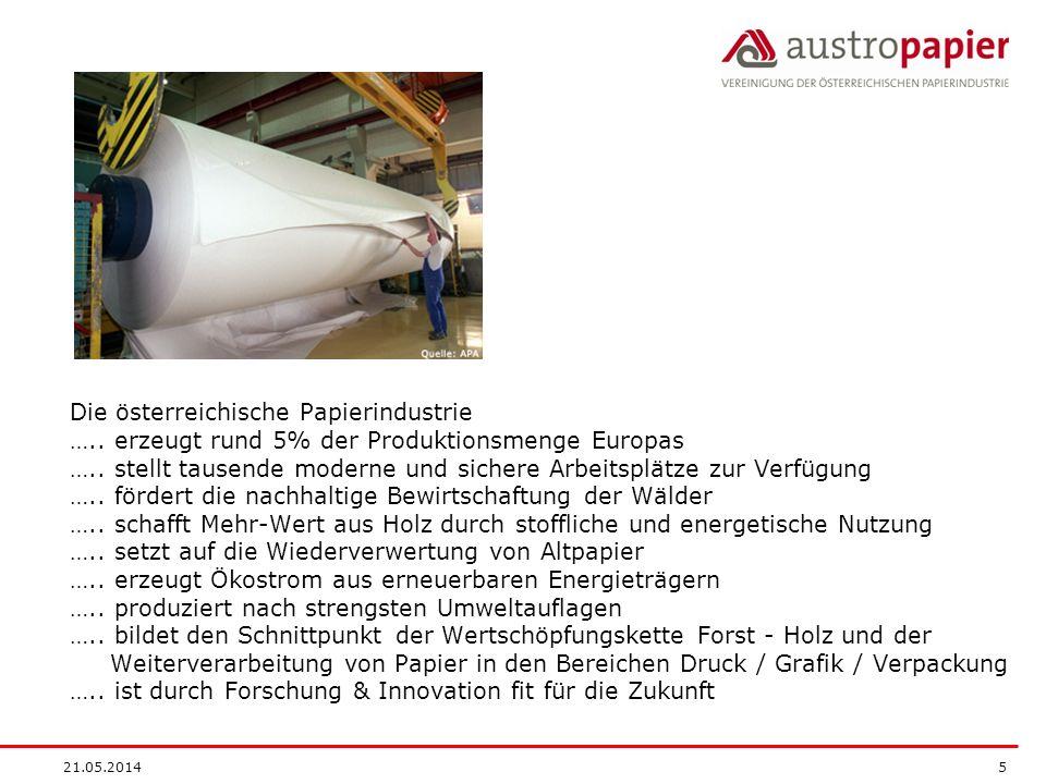 Die österreichische Papierindustrie …