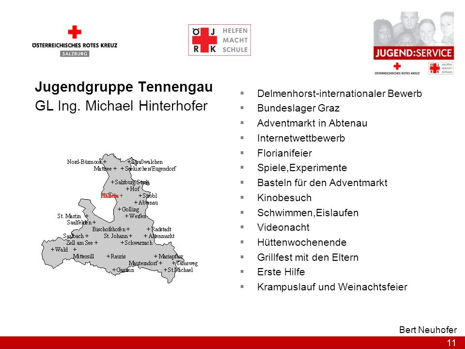 Jugendgruppe Tennengau GL Ing. Michael Hinterhofer