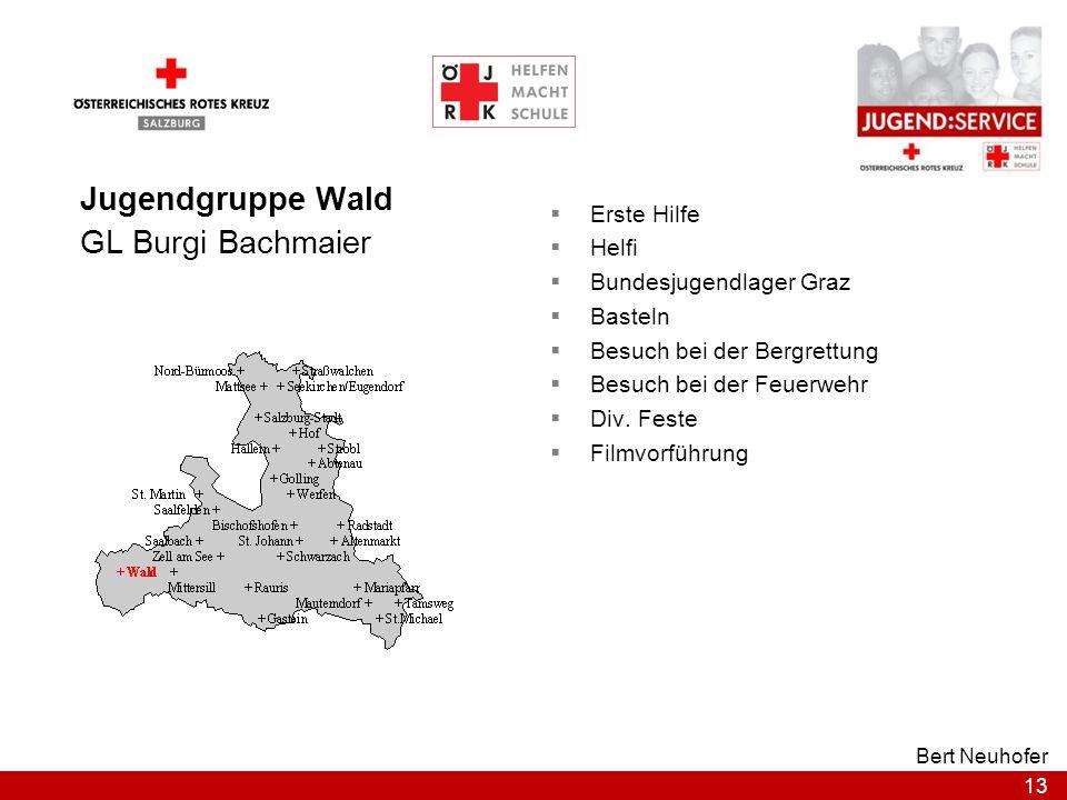 Jugendgruppe Wald GL Burgi Bachmaier Erste Hilfe Helfi