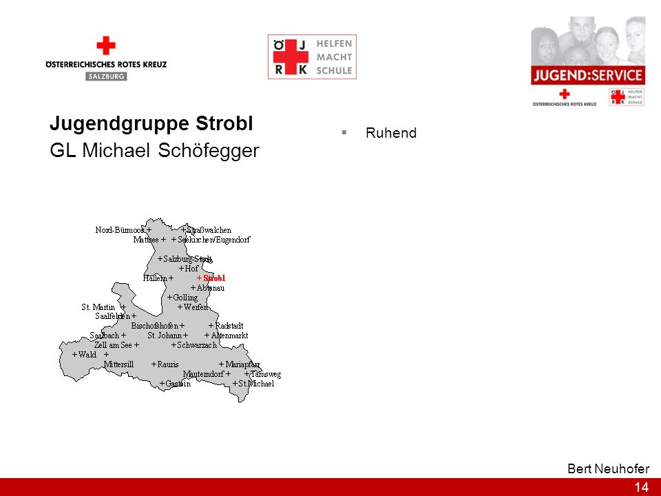Jugendgruppe Strobl GL Michael Schöfegger Ruhend Bert Neuhofer
