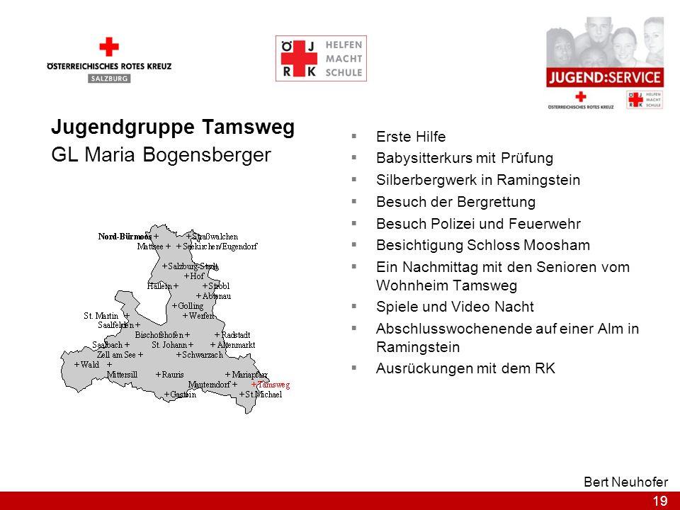 Jugendgruppe Tamsweg GL Maria Bogensberger Erste Hilfe