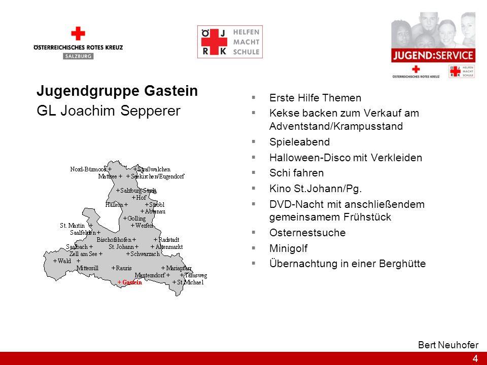 Jugendgruppe Gastein GL Joachim Sepperer Erste Hilfe Themen