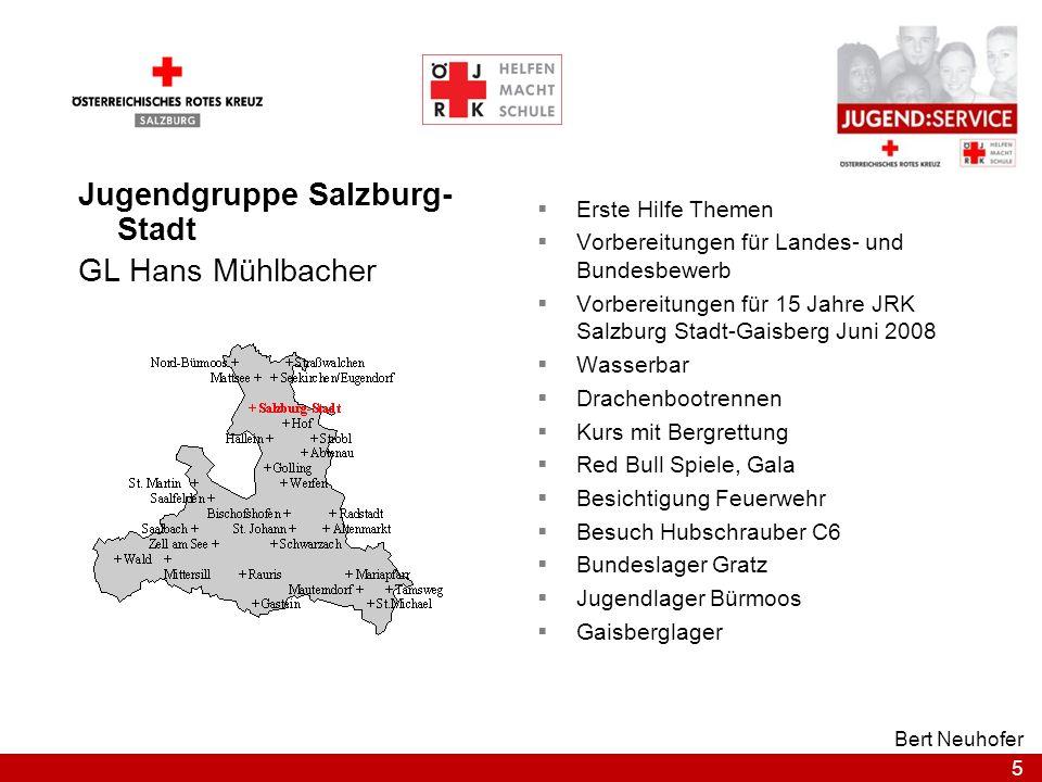 Jugendgruppe Salzburg-Stadt GL Hans Mühlbacher