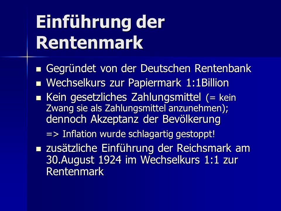 Einführung der Rentenmark