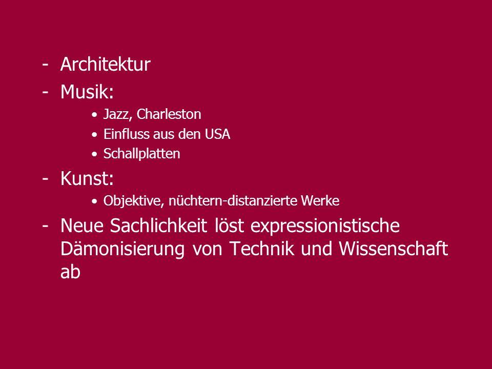 Architektur Musik: Kunst:
