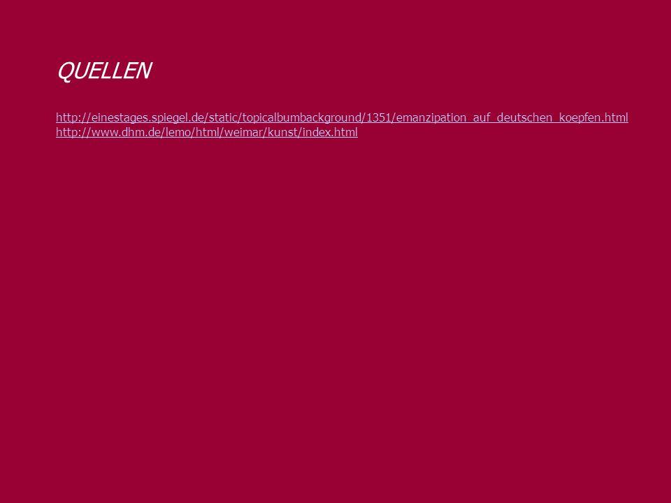 QUELLEN http://einestages.spiegel.de/static/topicalbumbackground/1351/emanzipation_auf_deutschen_koepfen.html.