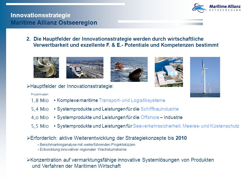 Innovationsstrategie Maritime Allianz Ostseeregion