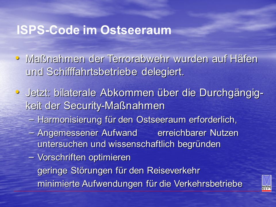 ISPS-Code im Ostseeraum
