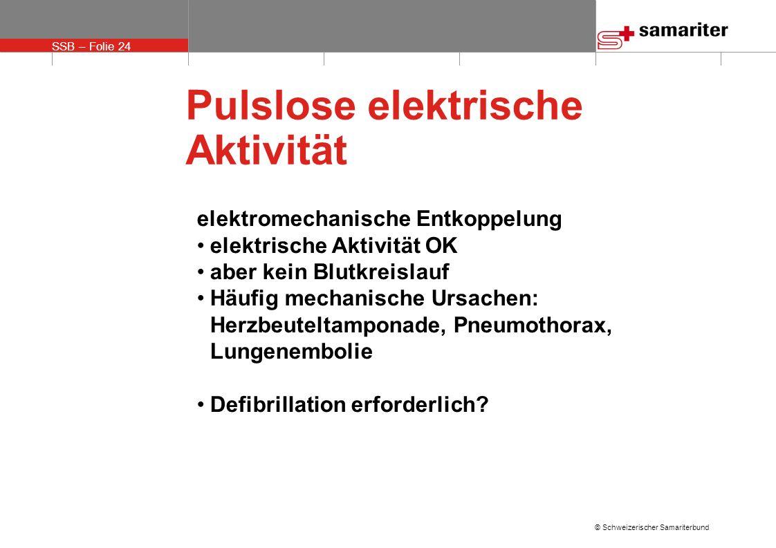 Pulslose elektrische Aktivität