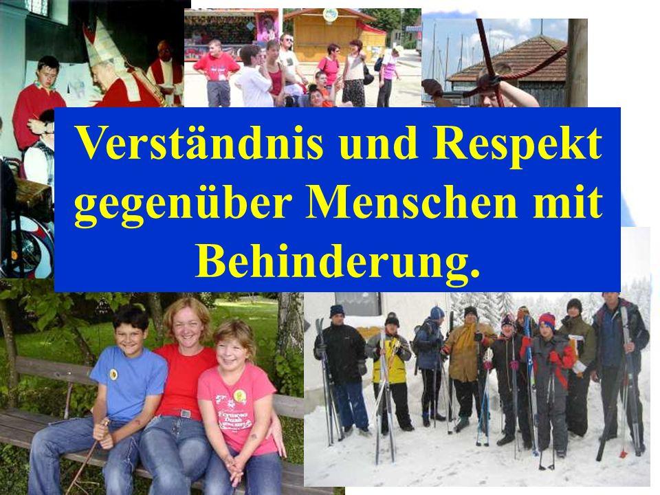 Verständnis und Respekt gegenüber Menschen mit Behinderung.