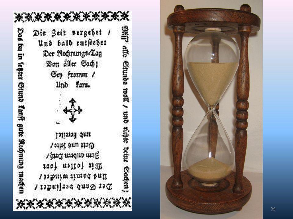 """Symbole aufnehmen: """"Die Zeit verrinnt so schnell. Blickwechsel von der verbleibenden Zeit auf das was bleibt."""
