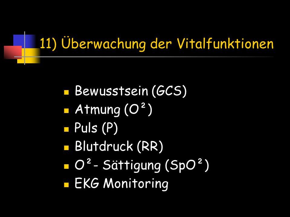 11) Überwachung der Vitalfunktionen