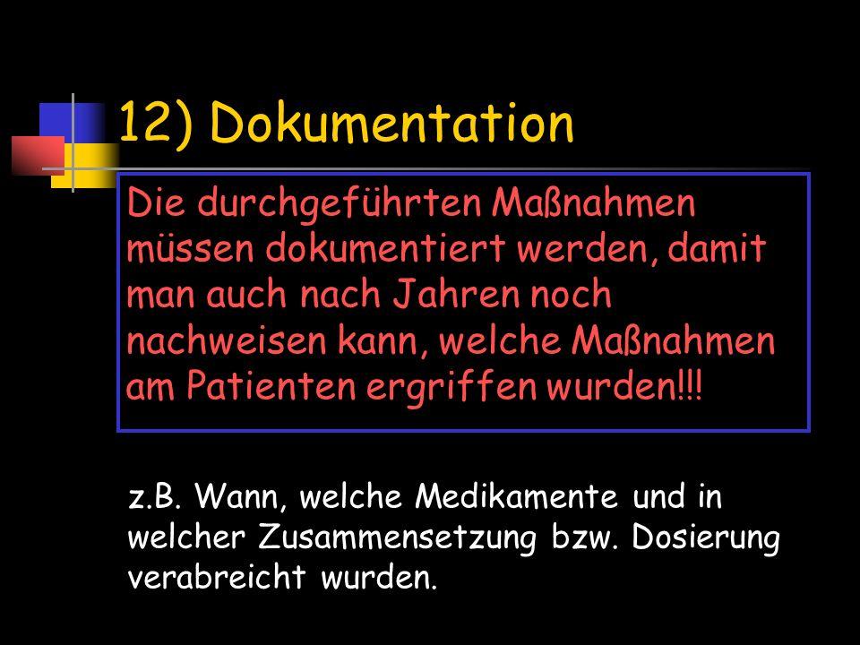 12) Dokumentation