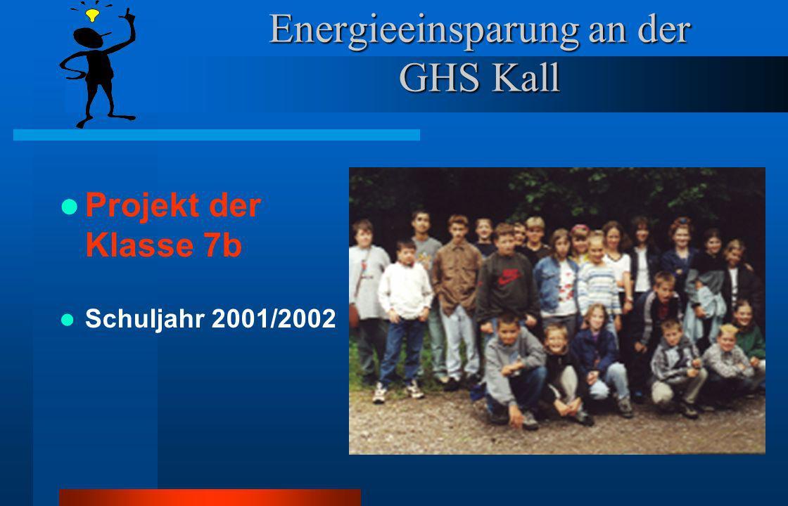 Energieeinsparung an der GHS Kall