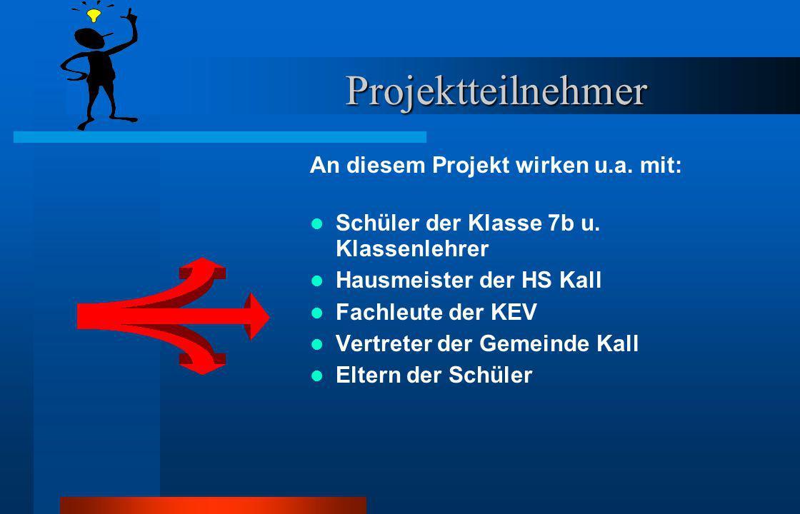 Projektteilnehmer An diesem Projekt wirken u.a. mit: