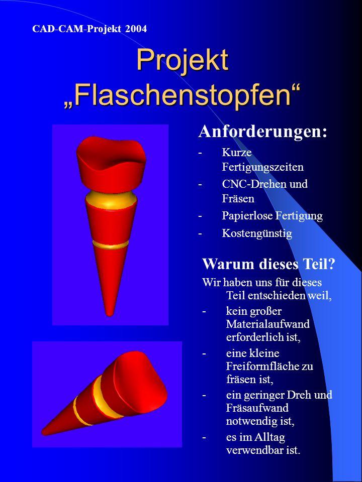 """Projekt """"Flaschenstopfen"""