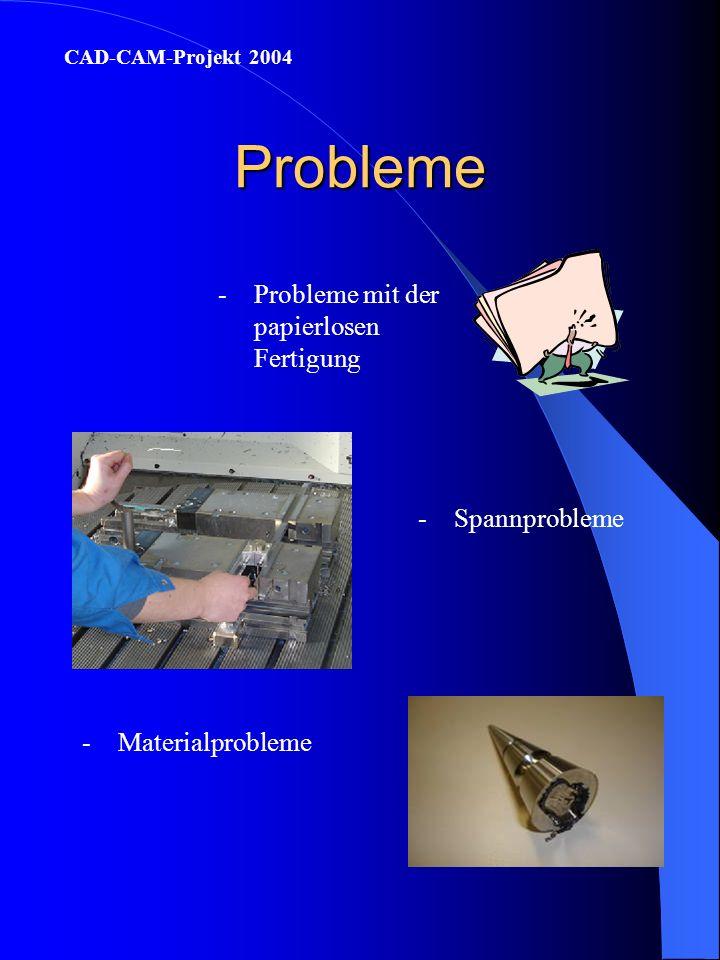 Probleme Probleme mit der papierlosen Fertigung Spannprobleme